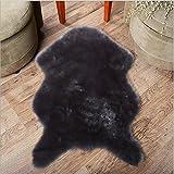 Unim pelliccia finta pelle di pecora singola–24in. x 35in. Decorativo tappeto coprisedili Chair Pad, Pelliccia ecologica, Grey, 60cm X 90cm