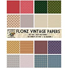 "Paper Pack (16sh 10""x10"") Baroque Patterns FLONZ Vintage Paper for Scrapbooking and Craft"