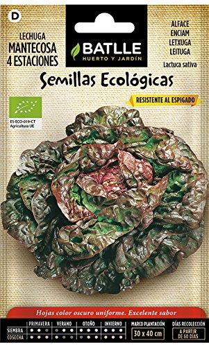 Semillas Ecológicas Hortícolas - Lechuga Mantecosa 4 Estaciones - ECO - Batlle