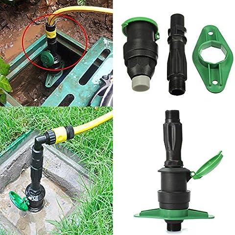 Bluelover 3/4 de pulgada jardín riego tierra agua rápida toma válvula rápida conector de la manguera