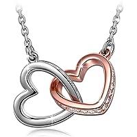 Kami Idea Mein Schicksal Damen Kette mit Swarovski Steinen Gold Plattiert Herz Halskette mit Anhänger, Kommt in Eleganten Geschenk-Box, Nickel-Freie Bestanden SGS Test