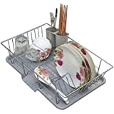 HOME CUBE Aluminium Dish Rack Over Sink with Spoon Holder Utensil Drainer Functional Drying Organizer Vegetable Fruit…