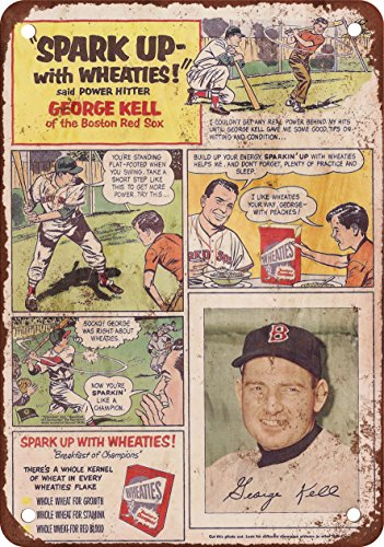 1953-george-kell-para-wheaties-reproduccion-de-aspecto-vintage-metal-sign