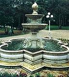 Brunnen, Gartenbrunnen, Zierbrunnen, fountain, Madrid Farbe sandstein