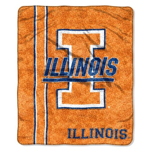 Northwest NCAA Illinois Fighting Illini 127x 152,4cm Sherpa auf Sherpa Jersey Design Überwurf Decke (Illinois Home Jersey)
