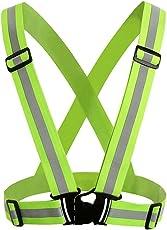 Reflektierende Gurt reflektierende Weste Outdoor-Reiten Nacht Laufsport Verkehr fluoreszierende Sicherheit Kleidung und Nacht mit Notfall-Identifikation Label Uniform Code einstellbar