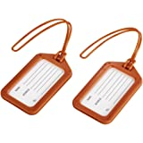 Hama Porte-étiquette à bagage (étiquettes pour bagages, étiquette de voyage, lot de 2, en plastique, inscription possible) Or