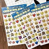 NOVSIX 16 Pack Emoji Aufkleber Set, Instagram, Facebook, Twitter, iPhone Emoji Aufkleber, 2 Größen für NOVSIX 16 Pack Emoji Aufkleber Set, Instagram, Facebook, Twitter, iPhone Emoji Aufkleber, 2 Größen