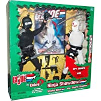 G.I. Joe 2003 Ninja Showdown SPY TROOPS The Movie Series 12 Inch Tall Action Figure Set - Snake Eyes with Working Rappel Equipment Versus Storm Shadow with Working Zip Line Plus 44 Minute Fully Animated DVD and Lots of Weapon Accessories by G. I. Joe