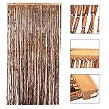 Yaheetech Bambustürvorhang Türvorhang Dekovorhang Natur 90x200 Raumteiler aus Bambus