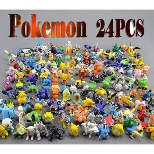 By channeltoys - Lot de 24 mini figurine Pokemon (pas de double) - 2 à 3 cm - mini figures salameche tortank pikachu bulbizarre - PVC rigide - Nouveauté 2016 by channeltoys