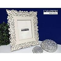 Cornice per foto 15x20 cm e dimensione oggetto 30x40 cm con intarsi - Mod. San Vito - I MAESTRI