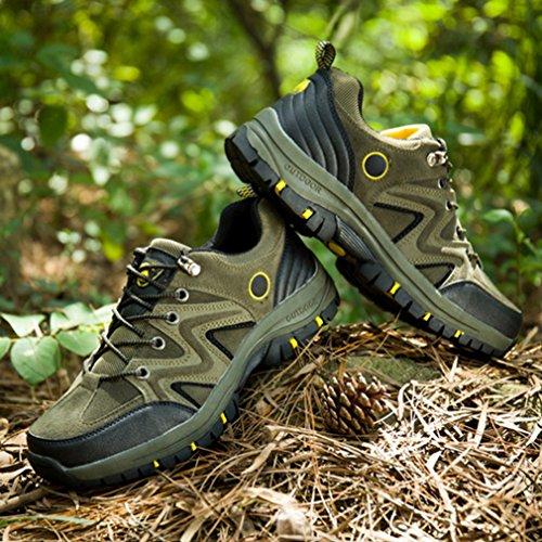 XI-GUA ,  Scarpe da camminata ed escursionismo uomo Verde