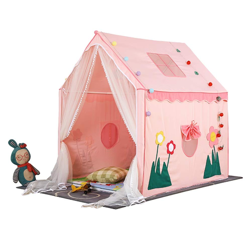 100% authentic f0a6c 13ab5 Mogicry Pink Princess Girl Child Teepee Game House Household Indoor Outdoor  Cotton Fiber Stent Material Teng Small House Child Toy Room Baby Split Bed  ...