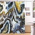 LB Klassischer, marmorierter Schattenregenvorhang für Badezimmerduschvorhang stellte mit 12 Haken wasserdichtem Polyestergewebe Antiform 180x180 ein von JinShiZhuan auf Gartenmöbel von Du und Dein Garten