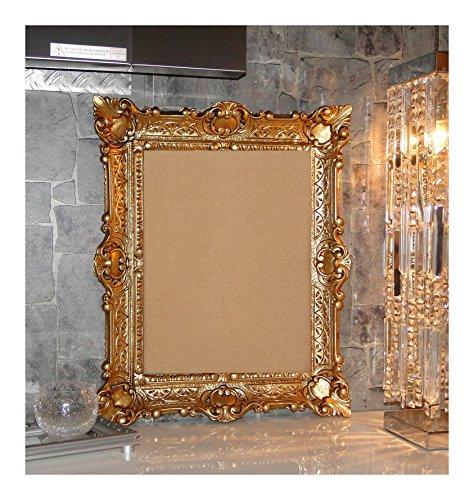 BILDERRAHMEN BAROCKRAHMEN mit GLAS 56x46cm RECHTECKIG REPRO Bilder für 30x40cm oder 40x30 cm BAROCK ANTIK (Gold)