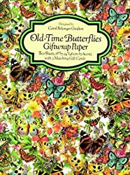 Old-Time Butterflies Giftwrap Paper (Giftwrap--2 Sheets, 1 Designs)