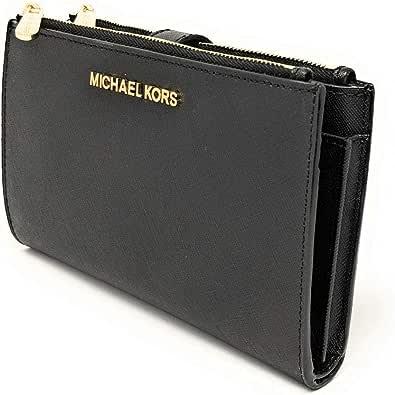MICHAEL KORS Damen 35F8TVW0L-001 Reisezubehör-Brieftasche, Schwarzes Saffiano, Einheitsgröße