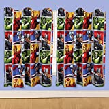 character world 72-inch Disney Marvel Avengers Team Curtains, Multi-Colour