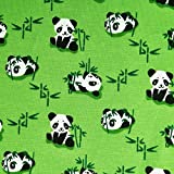 Panda - elastischer Jersey Stoff mit Panda Motiven -