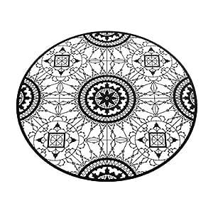 Italic Lace Round Placemat sottobicchieri, nero, Standard