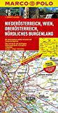 MARCO POLO Karte Niederösterreich, Wien, Oberösterreich, Nördliches Burgenland 1:200.000 (MARCO POLO Karten 1:200.000)