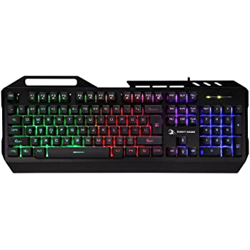 Night Hawk NK102 FPS Gaming Keyboard with 3 Colour Changeable LED and 19 Anti-Ghosting Keys (Multicolour)