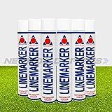 Net World Sports - Vernice spray per marcatura, 750 ml disponibile in 6 colori, bianco