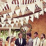 Amazingdeal365 Wimpelkette Hochzeit Vintage Herz Jute Bunting Banner für Deko und Fotografieren (2,5M)