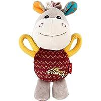 GiGwi Donkey 'Plush Friendz' with Squeaker, Medium, Red
