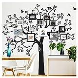 Wandaro Wandtattoo XXL Baum mit Vögel I dunkelrot (BxH) 200 x 195 cm I Wohnzimmer Flur Eingang Aufkleber selbstklebend Wandsticker Wandaufkleber Sticker W3428
