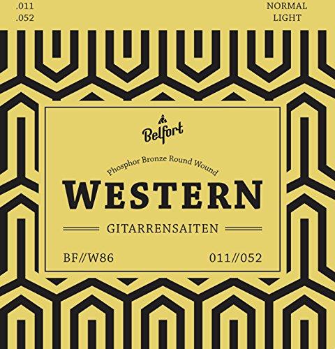Gitarrensaiten für Westerngitarre ★ Erstklassige Stahl Phosphor Bronze Saiten für Western-Gitarre & Akustik-Gitarre (6-Saiten Set) | BONUS: Gratis Ebook + 3 Plektren