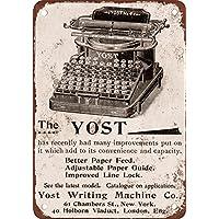1896 Yost Máquinas de Escribir Vintage Look Reproducción Metal Tin Sign ...