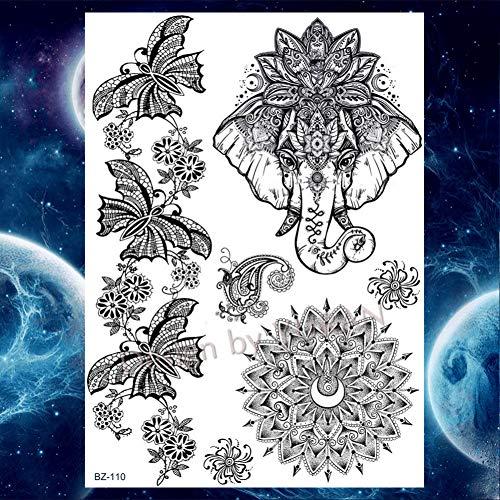 ht Tribal Temporäre Tattoos Aufkleber Henna Blume Tattoo Frauen Mädchen Körper Tatoos, Gbz110 ()