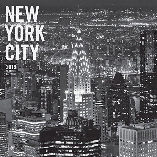 New York City - schwarz-weiß 2019 - 18-Monatskalender mit freier TravelDays-App: Original BrownTrout-Kalender por Inc Browntrout Publishers