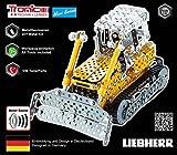 Metallbaukasten, LIEBHERR, Planierraupe, mit Motorgeräusch, Maßstab 1:32, 551 Teile, Tronico, inklusive Werkzeug, geeignet ab 8 Jahren