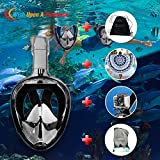 Full Face Snorkeling Mask With Beach Towel And Drawstring Bag | 2018 Foldable