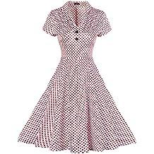 MISSMAO 1950s Retro Vestidos para Mujer de Verano Vintage Casual Cóctel Dama Vestido de Noche