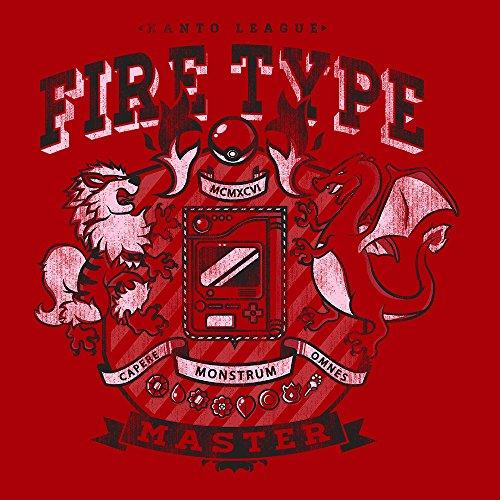 Pokemon Kanto League Fire Type Master Women's Sweatshirt Cherry Red