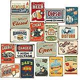 Boite de 18 stickers Vintage muraux 21 x 30 cm