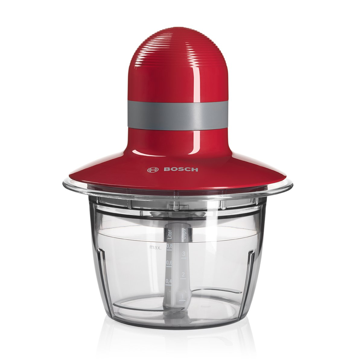 Bosch MMR08R2 – Picadora, capacidad de 0.8 l. 400 W, color rojo