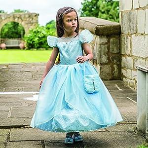 Amscan Vestido Up BLS9 azul Shimmer Princesa Vestido, Niñas, Color No Sólido, 9 - 11 años