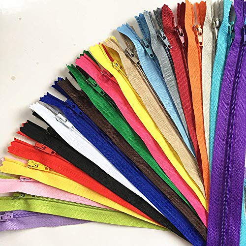 Wkxfjjwzc 3 # 50pcs mix 40 cm (40,6 cm) in nylon bobina cerniere tailor craft fogna crafter & fgdqrs
