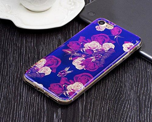 Pour Apple IPhone 7 Case, ultra léger, léger, de luxe, bleu, lumière, TPU, silicone, gel, protection arrière, couverture ( Color : D ) J
