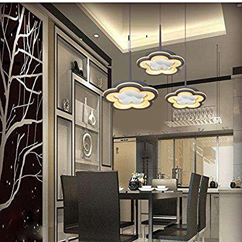 Creative Kronleuchter Restaurant einfach modern Pflaume Drei LED Lights, twocolor