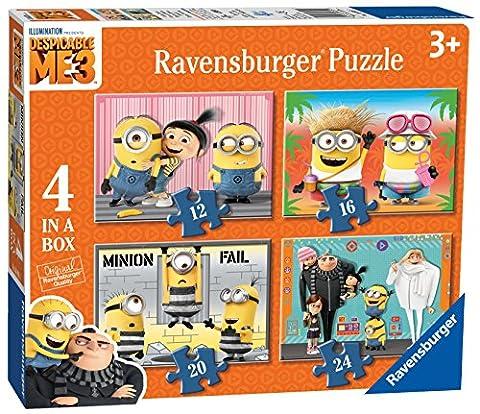 Ravensburger Despicable Me 3, 4in einer Box (12, 16, 20, 24-) Puzzle–DM3