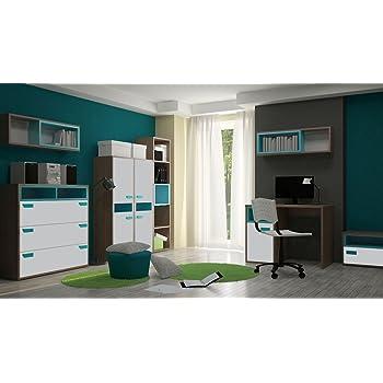 Jugendzimmer Komplett   Set A Michael, 8 Teilig, Farbe: Eiche Braun /