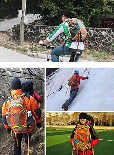 HWLXBB Outdoor Bergsteigen Paket Männer und Frauen 30L Wasserdichte Mehrzweck-Bergsteigen Tasche Wandern Camping Bergsteigen Rucksack 2*