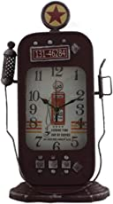Tootpado Table Clock Vintage Design Antique Gas Pump - Maroon (CLKf167)
