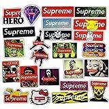 JAGLO 23 Pz/lotto Supreme Adesivi Per Auto Laptop Moto Skateboard Bagaglio Decalcomania Giocattolo impermeabile Supreme sticker